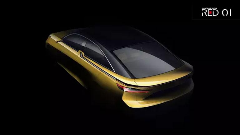 Китайско-белорусский концепт-кар Hanteng Red One покажут в Шанхае 15 апреля 2