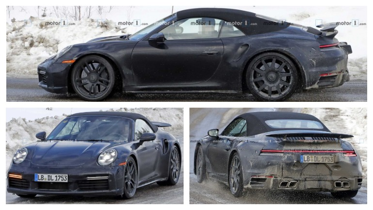 Опубликованы снимки нового Porsche 911 Turbo Cabrio 1