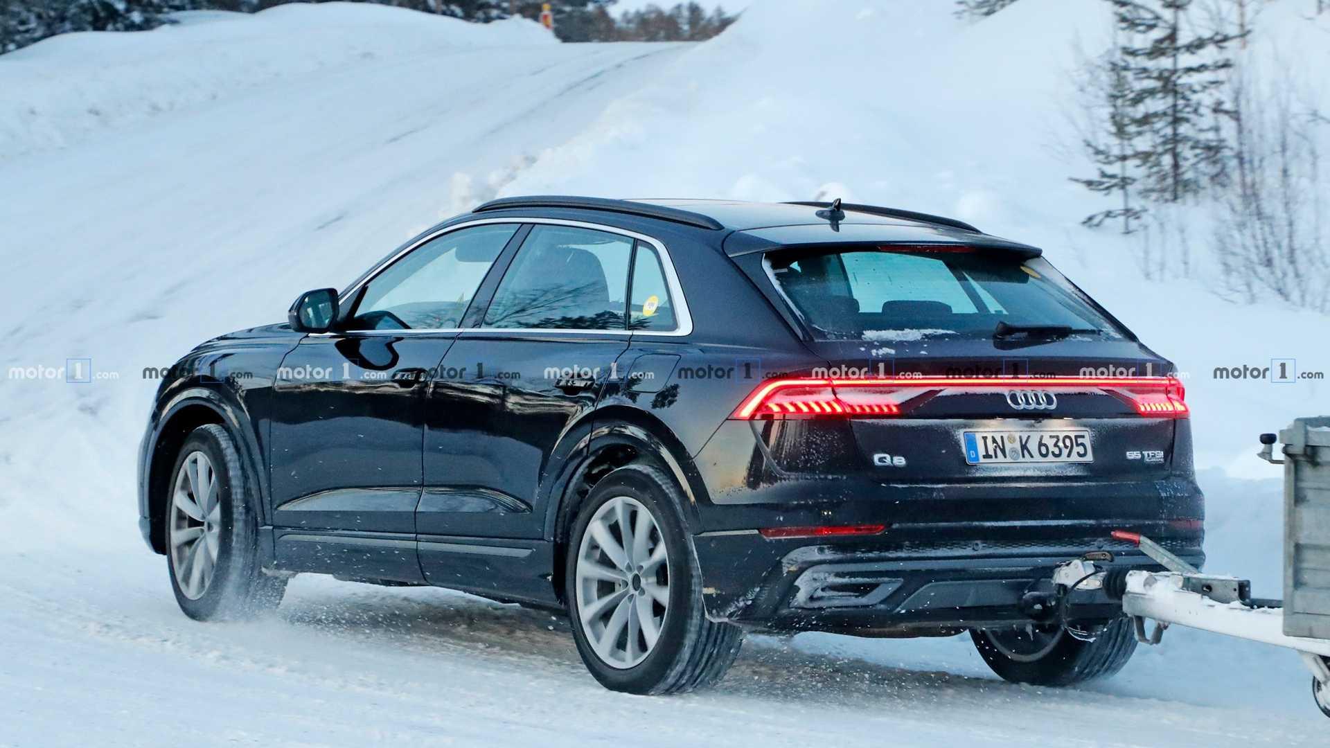 Гибридный Audi Q8 застали на дорожных испытаниях 2