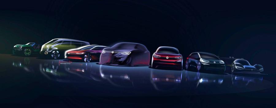 Volkswagen анонсировал премьеру нового электрического кроссовера ID Roomzz 1