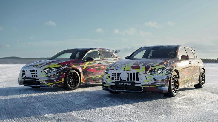 Mercedes показал фанатам новый AMG A45 на снежной трассе 1