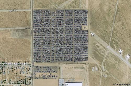Как сейчас выглядят кладбище новых VW с высоты птичьего полета 1