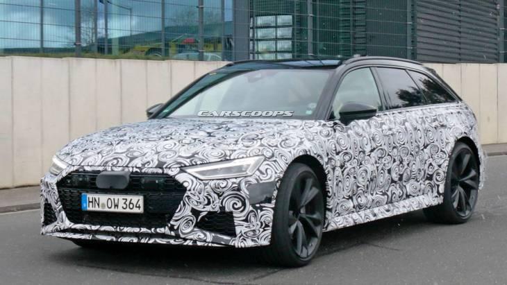 Новый RS6 от Audi засняли в окончательном виде 1