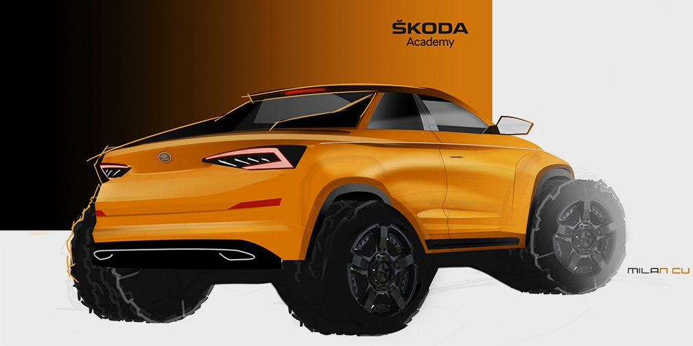 Skoda анонсировала пикап на базе кроссовера Kodiaq 1