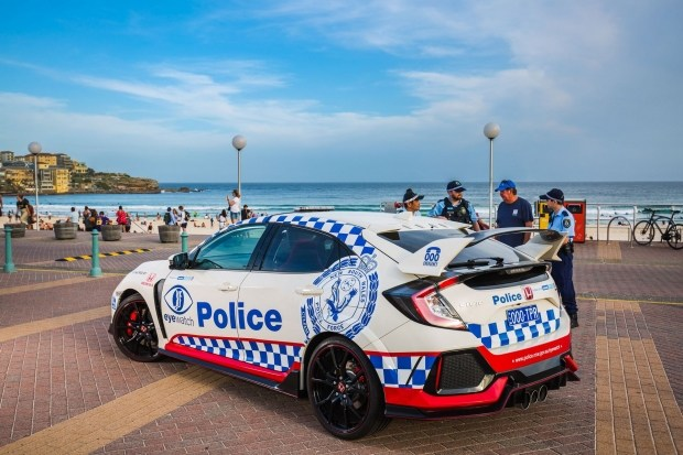 В Сети появились фото полицейской Honda Civic Type R 3