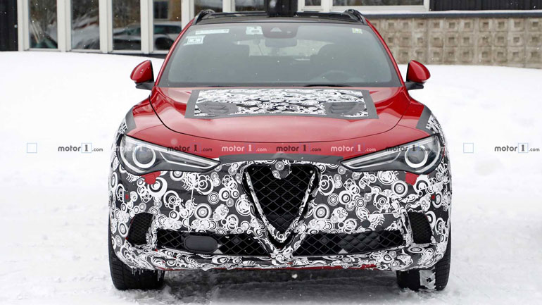 Alfa Romeo Stelvio был замечен во время тестов 1