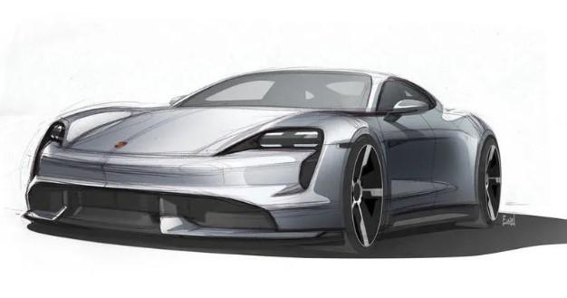 Porsche обновила дизайн будущего электрокара Taycan 1