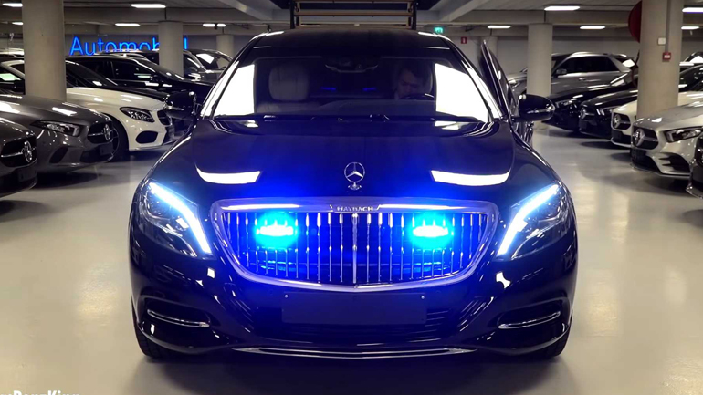 Mercedes-Maybach S600 Pullman Guard 2019 показали на видео 1