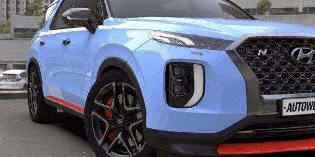 В Сети появился снимок возможного Hyundai Palisade N 1