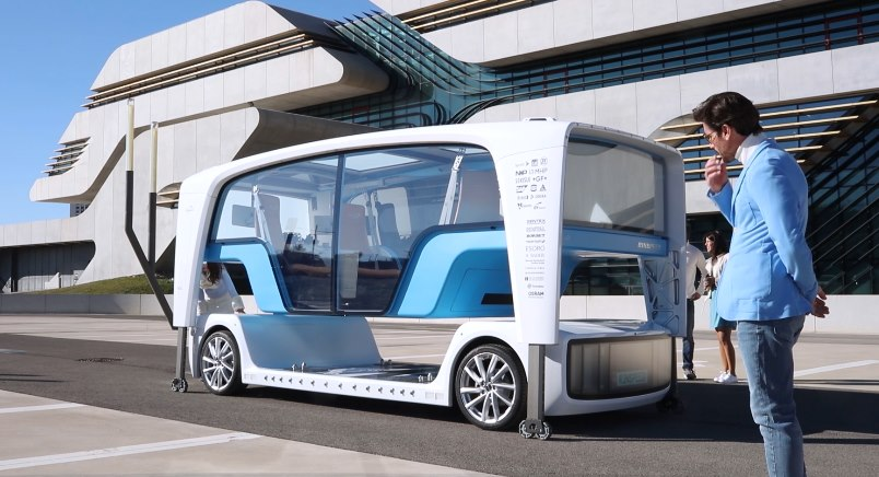 Беспилотные автобусы появятся во Франции в 2020 году 1