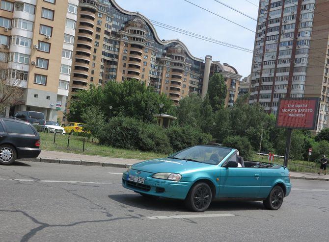 Редкий кабриолет на литовских номерах в Украине 1