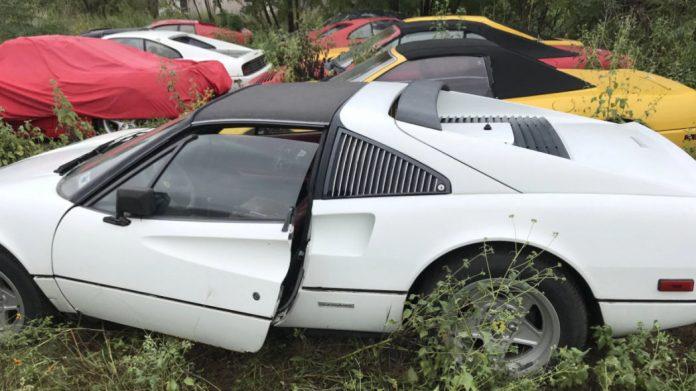 В поле нашли коллекцию брошенных классических Ferrari 1