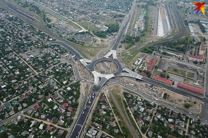 В Беларуси построили гигантскую развязку 1