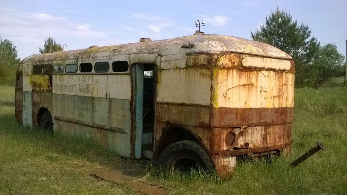 Самое необычное транспортное средство в зоне отчуждения ЧАЭС 1