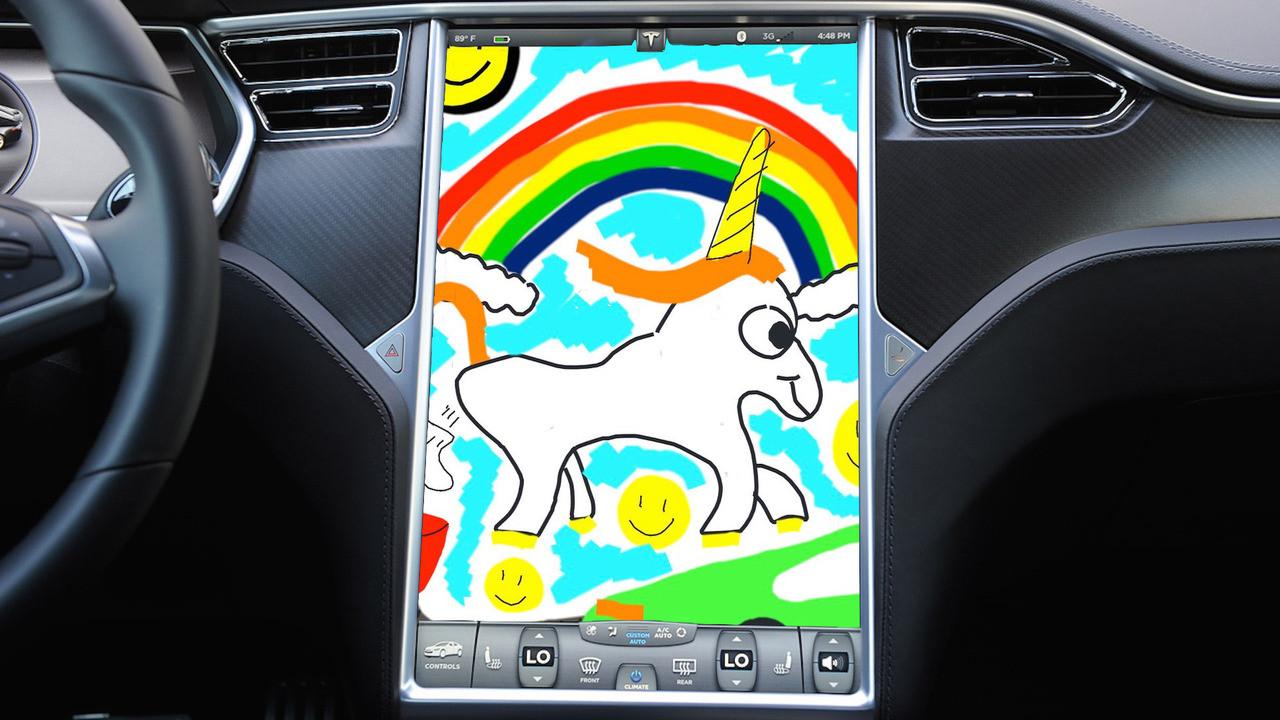 Tesla модернизировала приложение для рисования в автомобилях 1