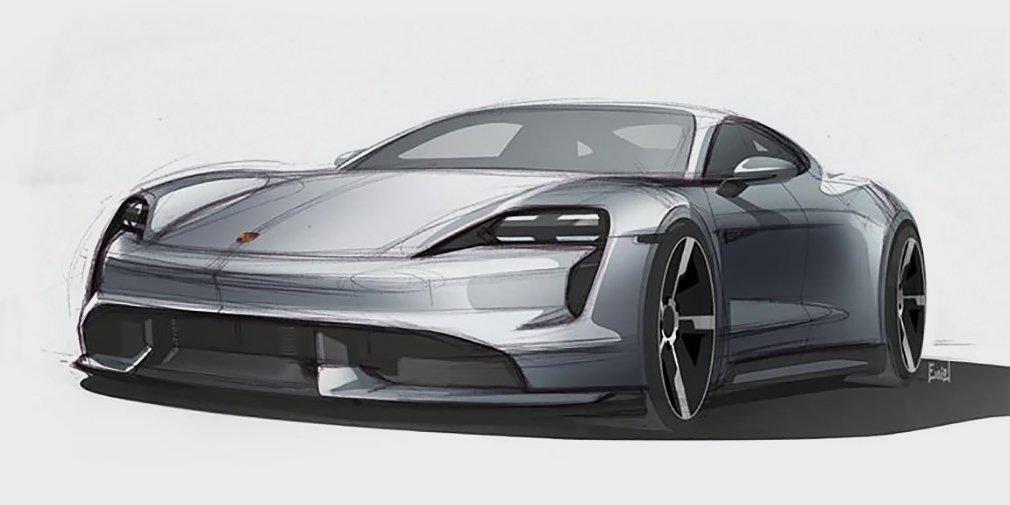 Porsche показала дизайн первого электрокара 1