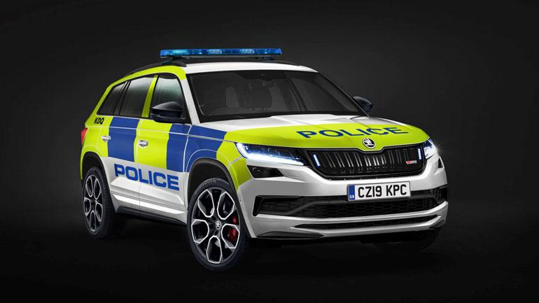 Новый Skoda Kodiaq vRS поступил на вооружение полиции 1