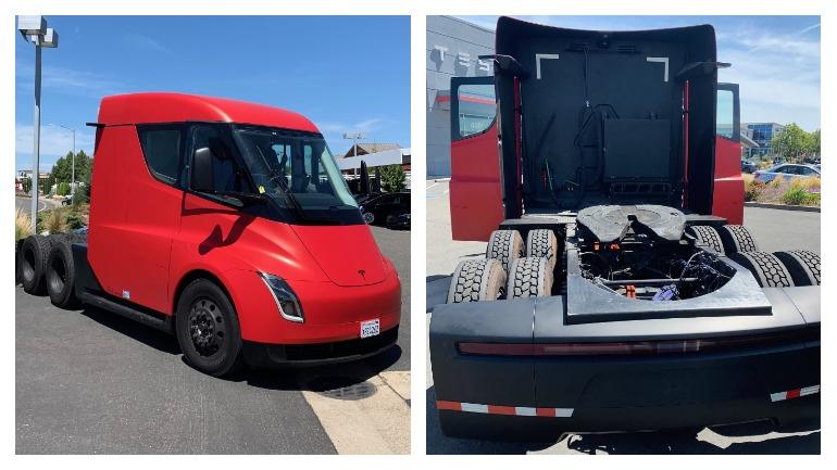 В Калифорнии замечен серийный Tesla Semi 1
