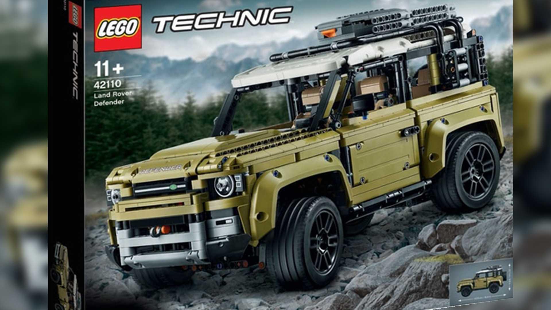 Внешность нового LR Defender раскрыли с помощью Lego 1
