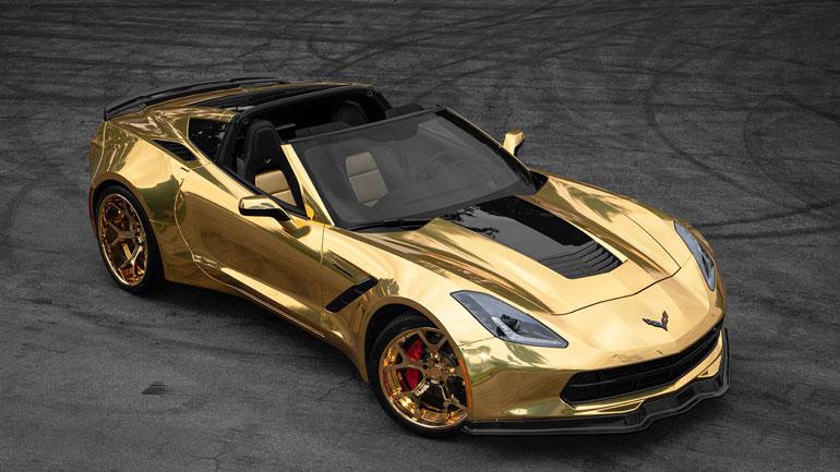 Тюнеры показали золотой Corvette C7 1