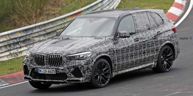 Новый BMW X5 M проходит испытания на Нюрбургринге 1