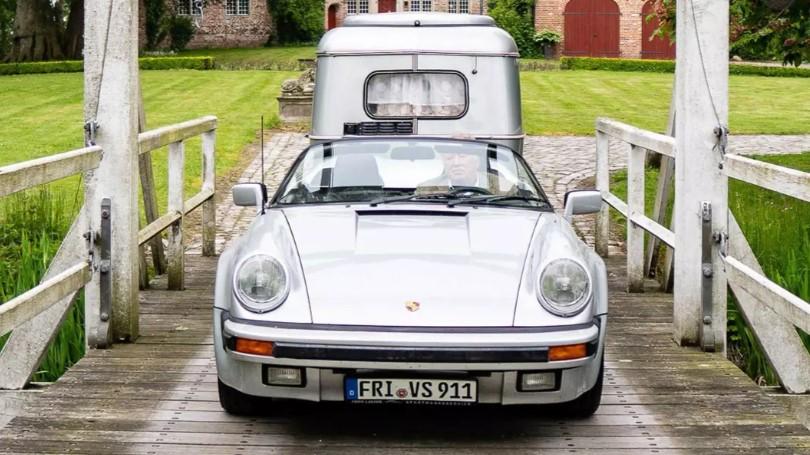 Porsche 911 Speedster приспособили под буксировку прицепа 1