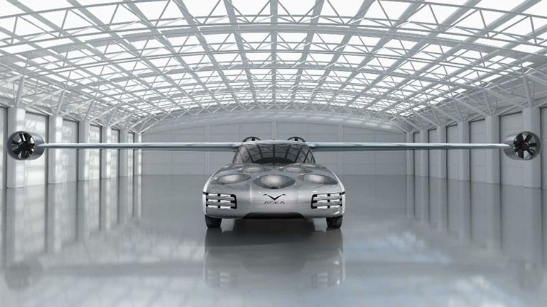 Стартап NFT представил гибридный летающий автомобиль Aska Concept 1