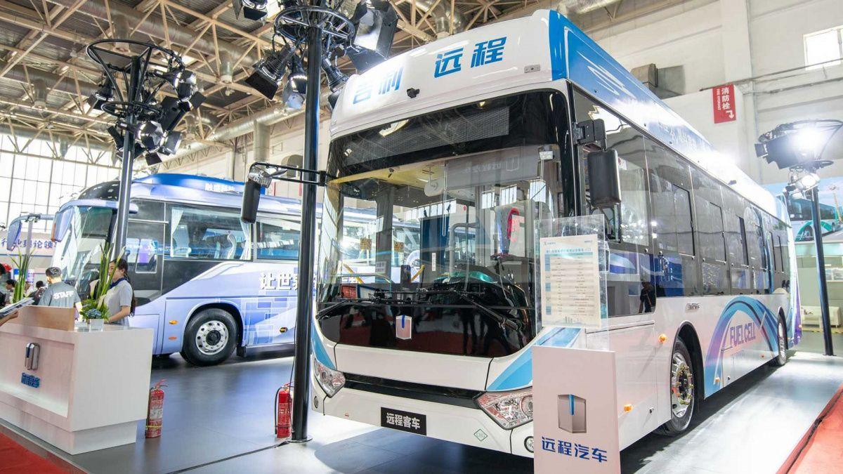 Показаны первые автобусы на водороде от Geely 3