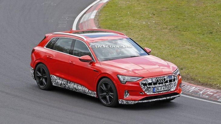 Спортивный электромобиль Audi засекли на тестах в Нюрбургринге 1