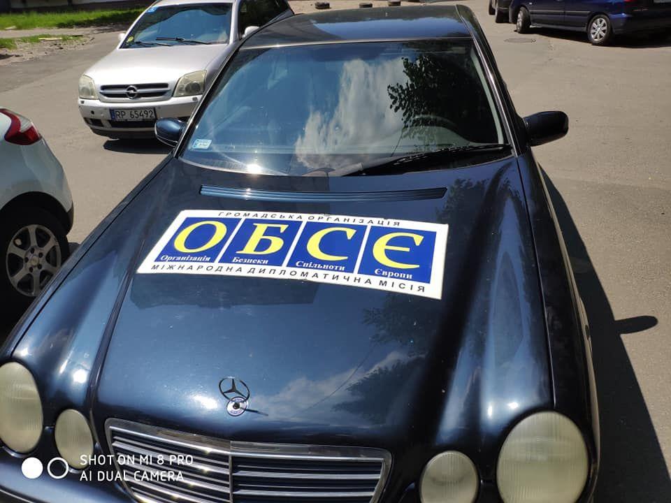 Евробляху замаскировали под автомобиль ОБСЕ 1