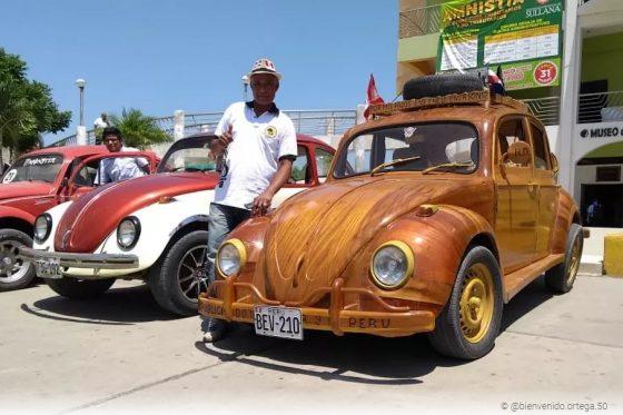 Изобретатель ставит рекорды на деревянном Volkswagen Beetle 1