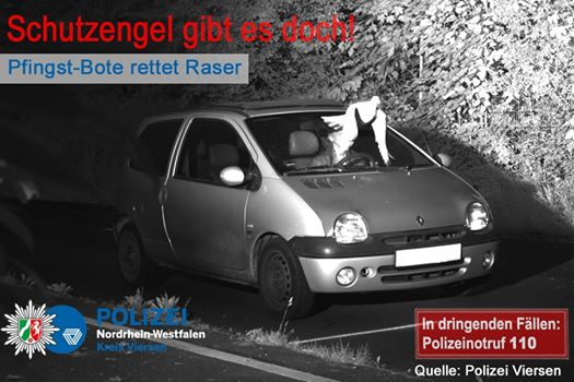 «Святой дух» спас немецкого водителя от штрафа 1