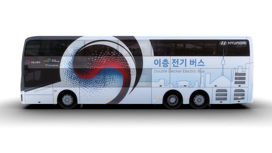 Hyundai представила электрический двухэтажный автобус 1