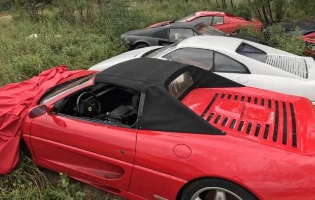 Кладбище заброшенных суперкаров Ferrari 4