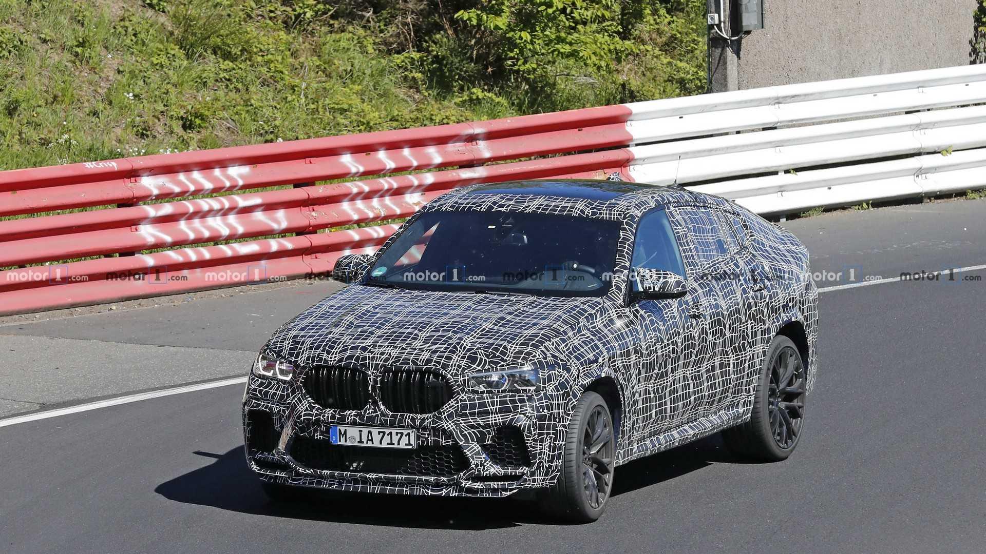 Новый BMW X6 M попался фотошпионам на «Нордшляйфе» 1