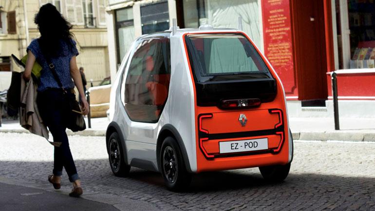 Renault представил миниатюрный автономный электромобиль EZ-POD 1