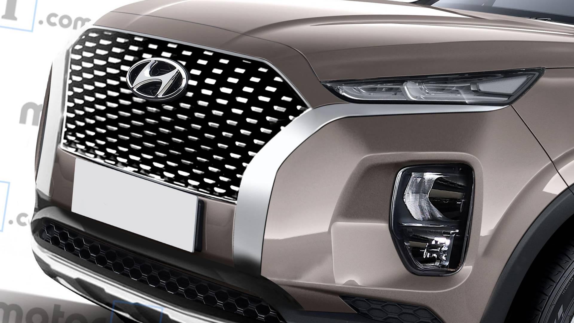 Рассекречен дизайн кроссовера-гиганта Hyundai Palisade 1