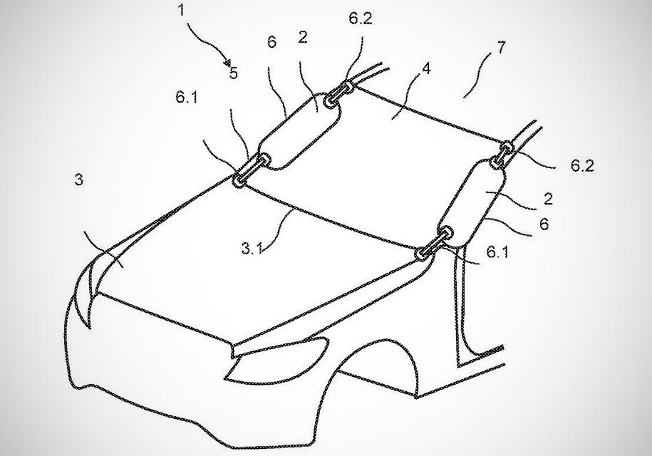 Mercedes-Benz запатентовал подушку безопасности для пешеходов 1