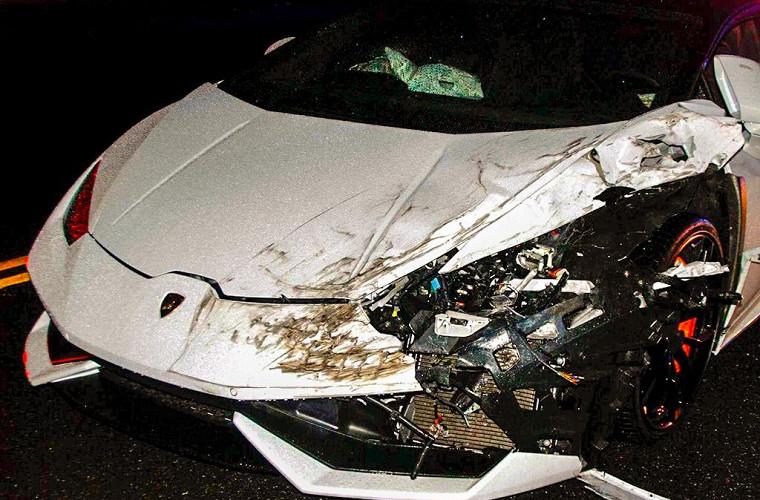 «Мажор», уходя от полиции, вдребезги разбил Lamborghini 1