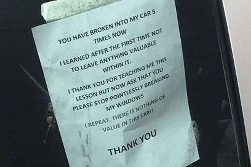 «Постоянная жертва» автоворов оставил им трогательное послание 1