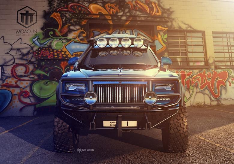 Дизайнеры превратили Rolls-Royce в брутальный внедорожник 3