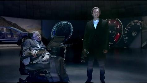 Известный физик Стивен Хокинг снялся в рекламе Jaguar 2