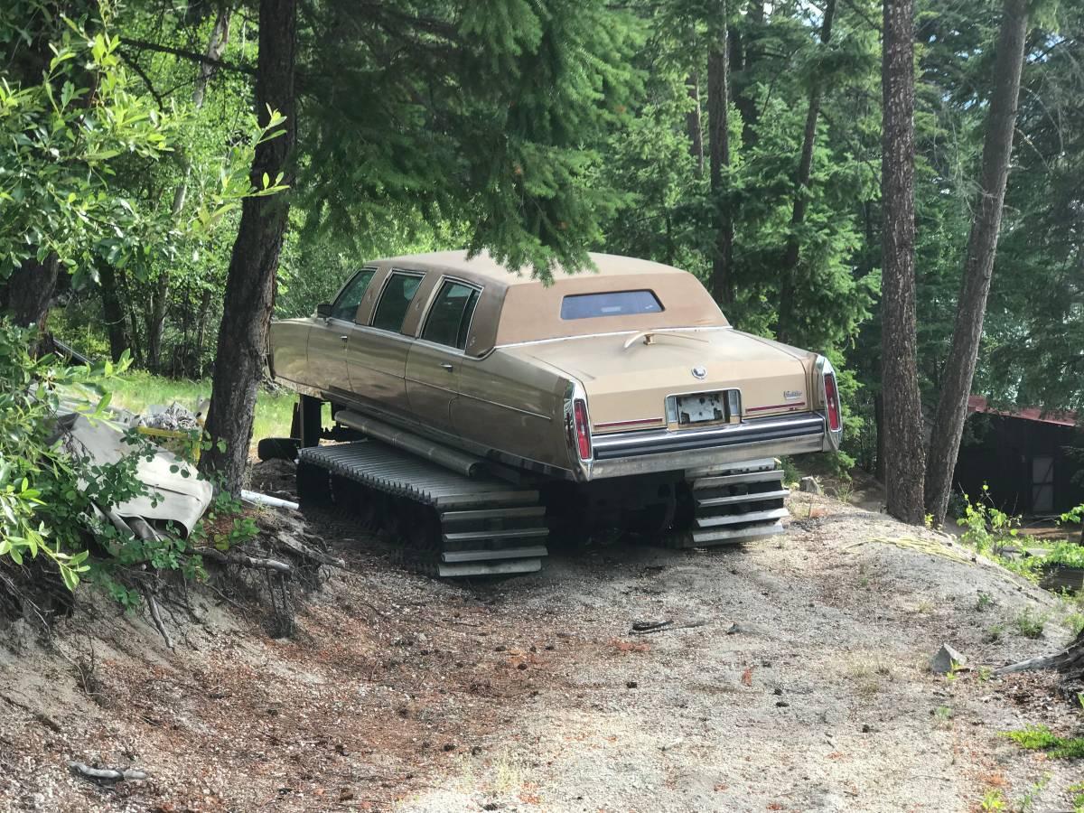 Канадец построил Cadillac с гусеницами от ратрака, а теперь пытается его продать 1