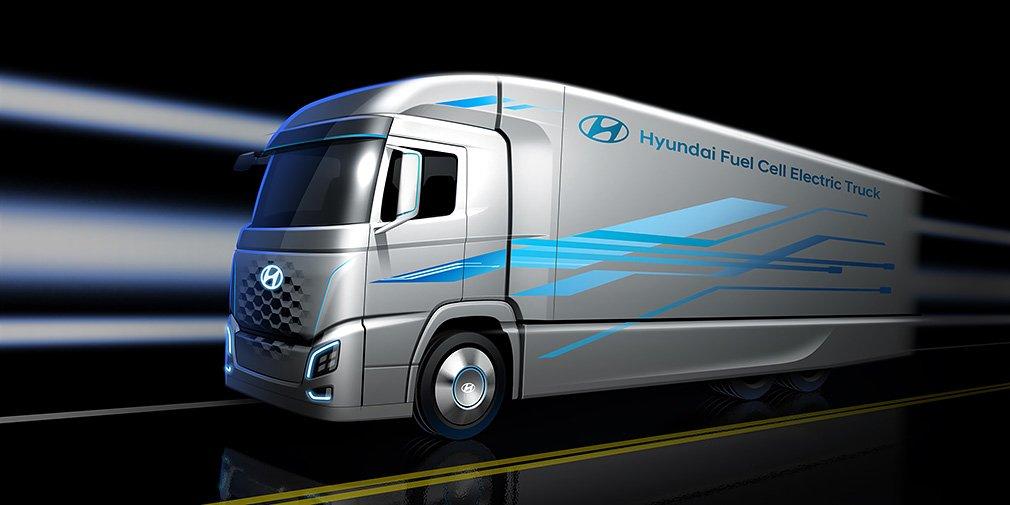 Hyundai рассекретил дизайн водородного грузовика 1