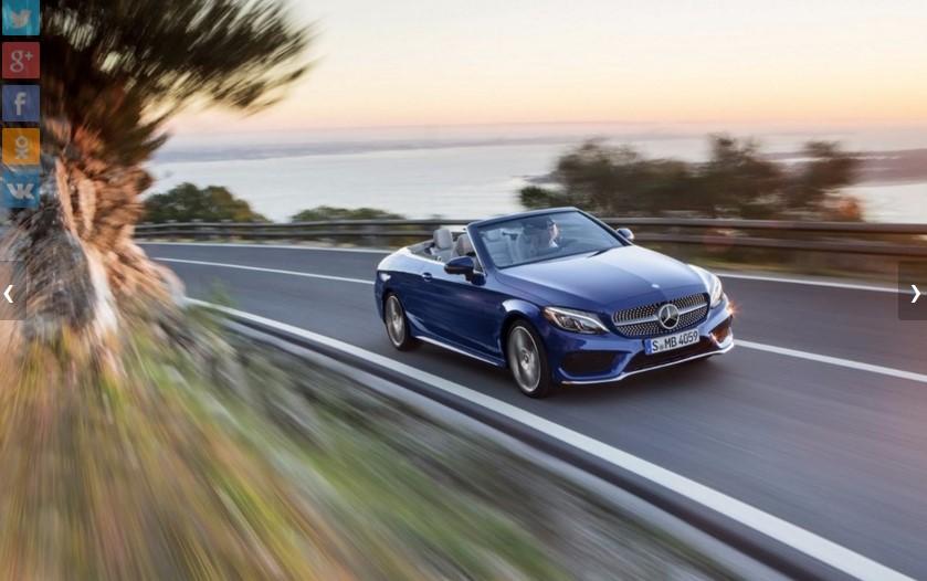 Mercedes представил открытую версию нового C-Class 2