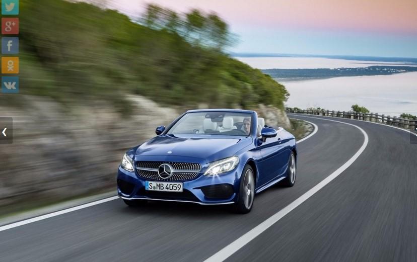 Mercedes представил открытую версию нового C-Class 4
