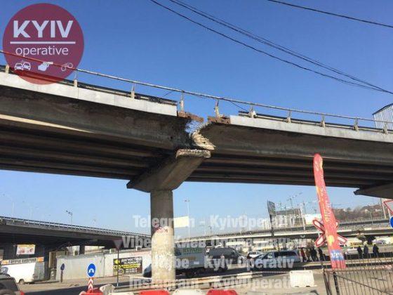 В Киеве продолжают «уставать» мосты 2