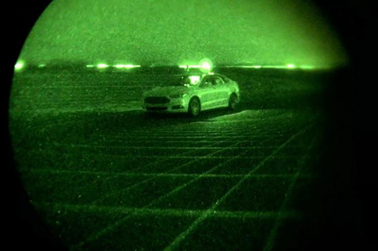 Состоялись тесты беспилотного автомобиля Ford в темное время суток 2