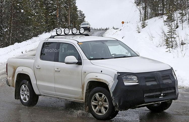 Начались испытания обновленного пикапа Volkswagen Amarok 2