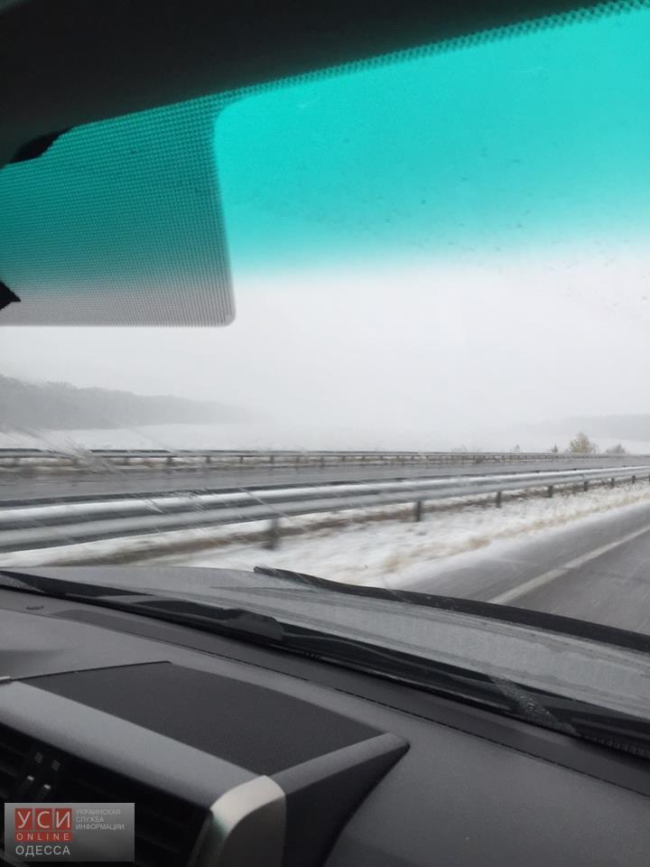 Трассу Киев – Одесса засыпало снегом 1